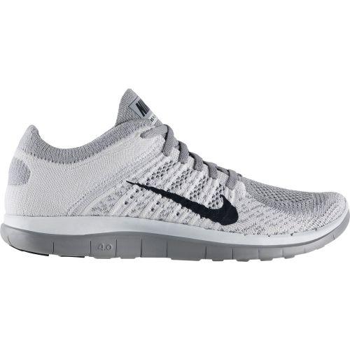 Nike Womens Free Flyknit Running Shoes White Black Grey 631050 101 [New Nike  Frees 2014 -