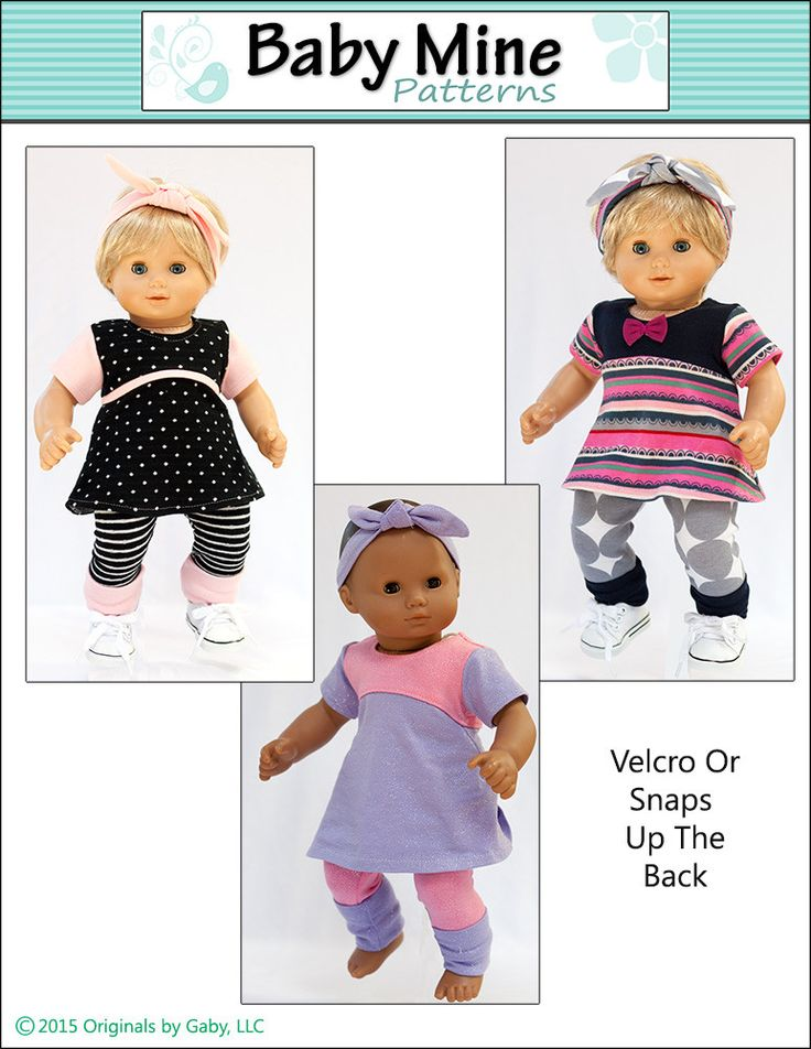 "Tri-City Knit Dress & Circle Leggings 15"" Doll Clothes"