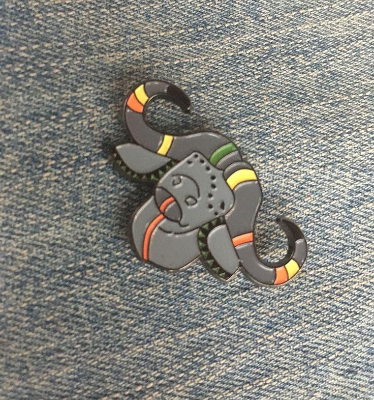 Powerful Buffalo enamel pin