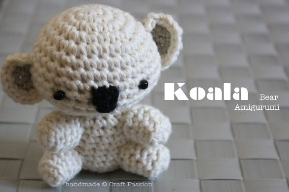 Crochet: Koala Bear Amigurumi {Tutorial & Pattern}