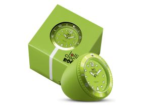 Lolliclock Rock Lime Green. The ultimate desk accessory or gift. 44mm, ABS Polycarbonite case + PC Rock backcover, 1ATM, PC21S movement. Buy online at www.lolliclock.com.au