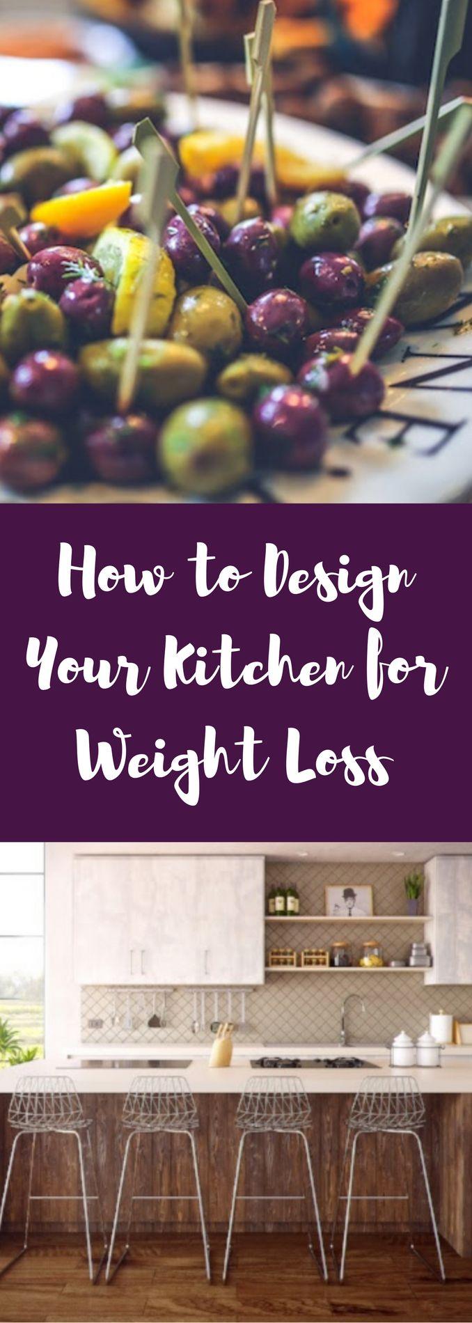 Kitchen layout ideas for weight loss! #weightloss #kitchen #kitchendesign