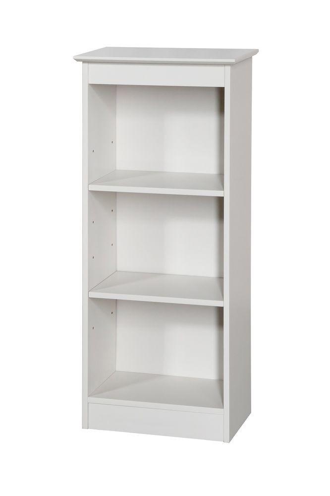 Bookcases Aspen White Bookcase Arctic White Painted Shelving Storage Unit
