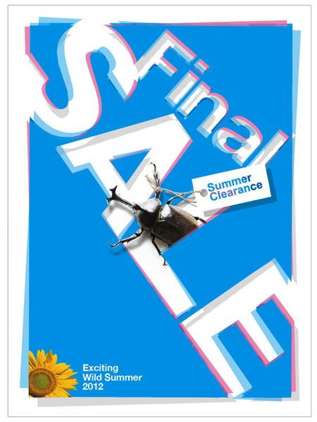 mochizuquiさんの提案 - カジュアルアパレルショップのサマーセール用ポスター | クラウドソーシング「ランサーズ」
