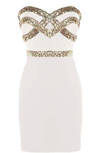 White Diamond Dress | Sequin Party Dresses | Rickety Rack