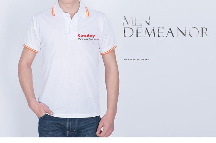 35% Cotton 7-oz White Trim Custom Polo Shirts - www.sundaypromotion.com