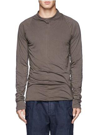 THE VIRIDI-ANNE - Raw cut collar T-shirt   Grey Pullovers Pullovers & Hoodies   Menswear   Lane Crawford - Shop Designer Brands Online