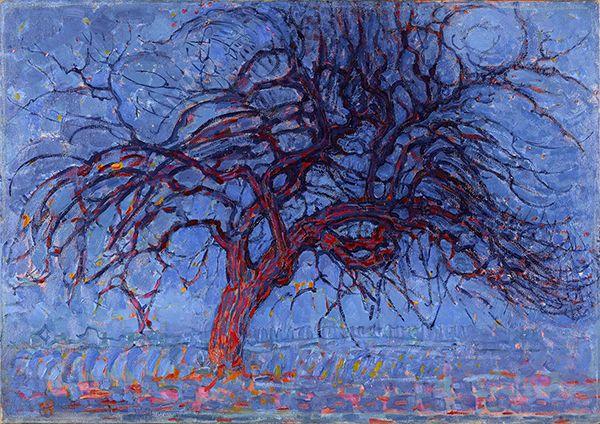 Piet Mondriaan (1872-1944) Avond; De rode boom, 1908-1910 Olieverf op doek 77 x 99 cm Gemeentemuseum Den Haag #KleurOntketend