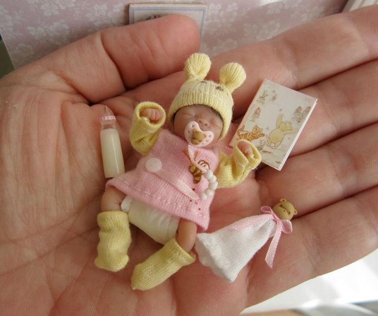 Great Miniature Dollhouse Baby With Accessories
