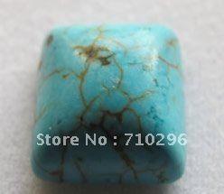 10 шт./лот 10 мм камень Площадь кабошон Бирюзовый камень Шарики Ювелирных Изделий Кабошон