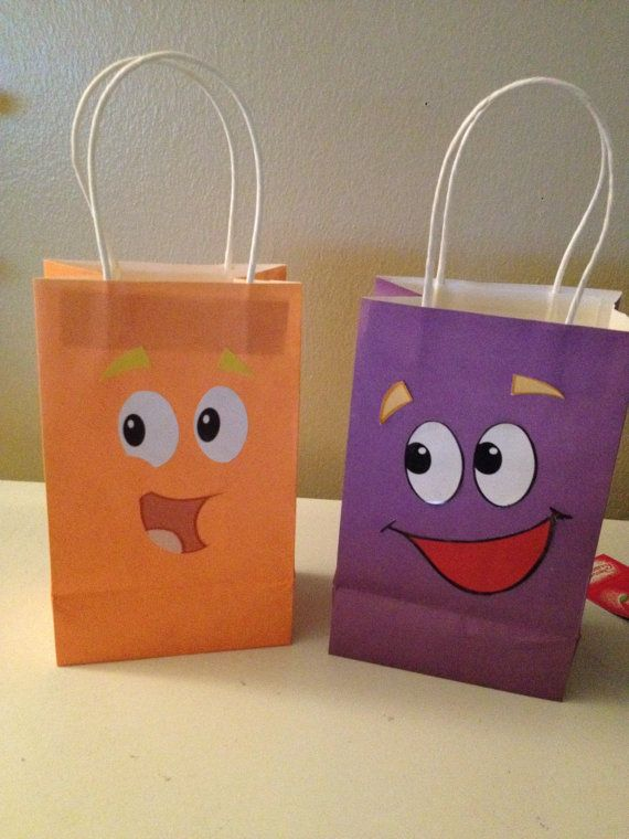 Dora Backpack & Diego Rescue pack party favor goody bags  Idea to make
