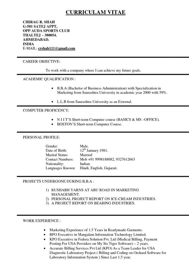 Resume format in usa resume templates job resume