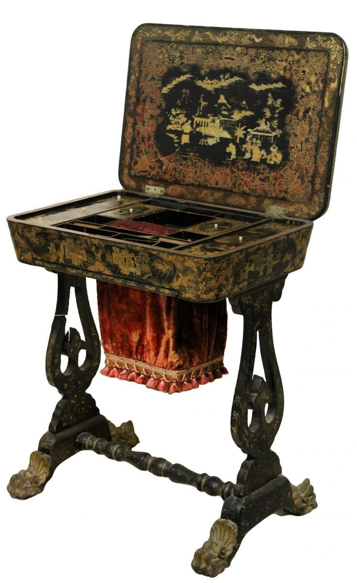 Victorian Japanned Work Table | Looking For Antiques - 27 Best Armchair Images On Pinterest Armchairs, Couches And Side
