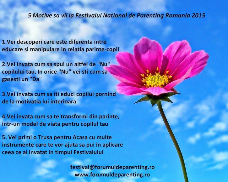 5 Motive sa vii la Festivalul National de Parenting Romania 2015  Bucuresti 13 Iunie 2015  #FestivalulNationaldeParenting2015 #Romania #MirelaHorumba