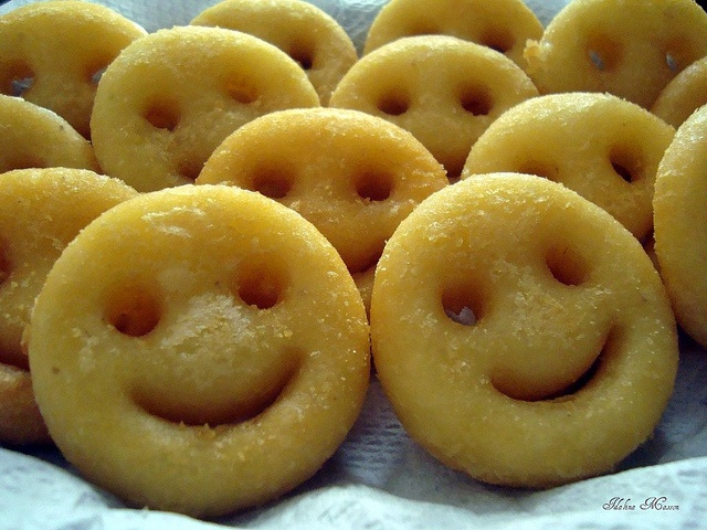 Smiley Face French Fries!  Kids will love them!