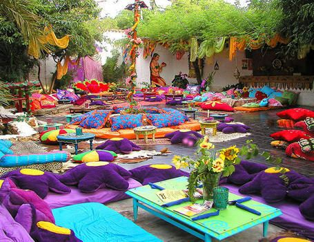 Las Dalias market (Ibiza). once a week, they organize Namaste Night, with live music, food... it's a very special place in the island