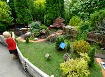Chicago Botanic Gardens outdoor model train garden- open 10-5  Aug. 11 Kite Festival