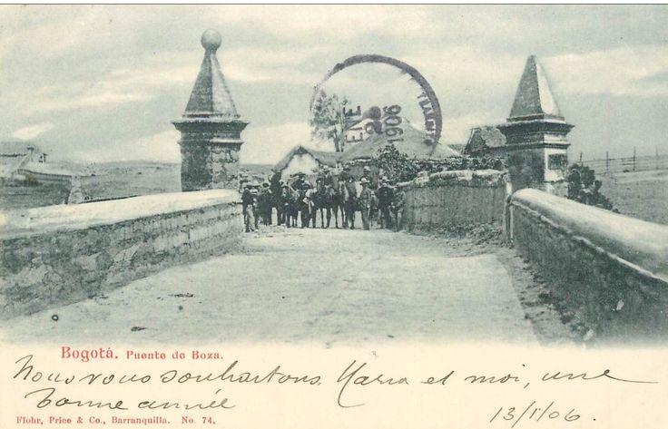 Puente de Bosa. Bogotá, enero de 1906