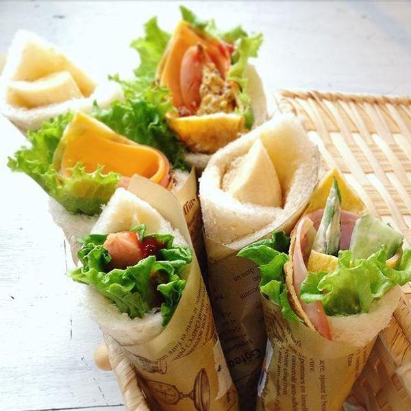 サンドしないサンドイッチパンで具を巻くサンドらずが簡単オシャレと話題です