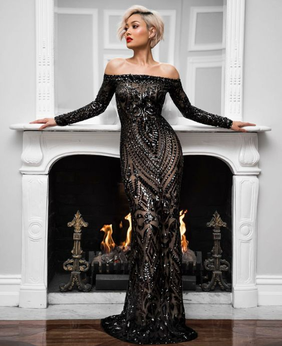 a37690fd406 robes noires chics pour femme Robe de soirée cocktail Découvrez les  dernières tendances mode sur le blog www.ofcoursedarlin.com