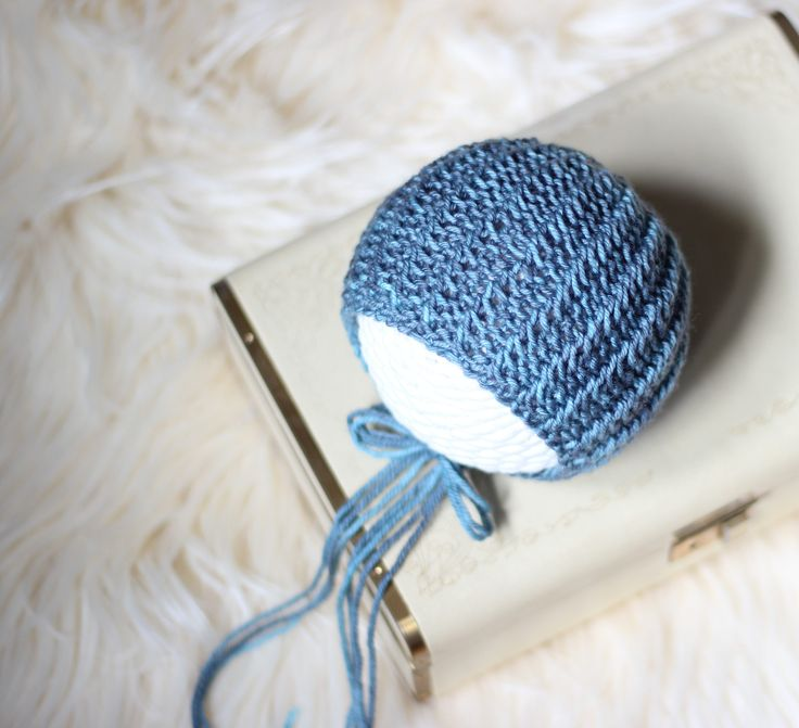 Knitting Pattern, Knit PDF Pattern,  Newborn Hat Pattern, PHOTO shoot prop,  Knit, Tutorial, PDF, Newborn hat, Bailey Bonnet by CreamoftheProp on Etsy