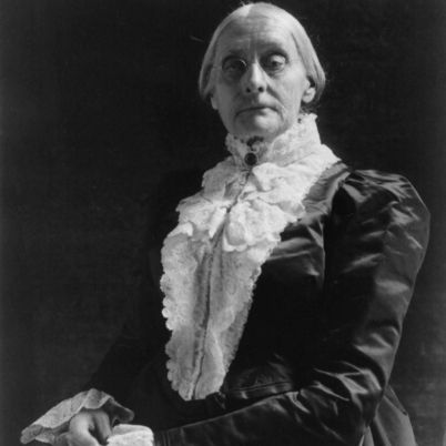Born in Massachusetts in 1820, Susan B. Anthony was a prominent civil rights leader during the women's suffrage movement of the 1800s. She created a weekly paper called Revolution and co-founded the National Woman Suffrage Association,