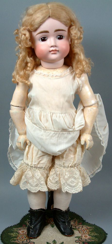 """Supremely Beautiful 24"""" Kestner Closed Mouth Antique Child Doll"""