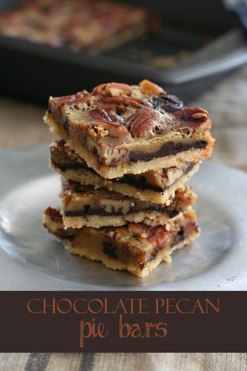 Low Carb Chocolate Pecan Pie Bar Recipe | All Day I Dream About Food