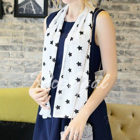 Stylish Five-Pointed Star Print Women's Neckerchief Scarves | RoseGal.com Mobile