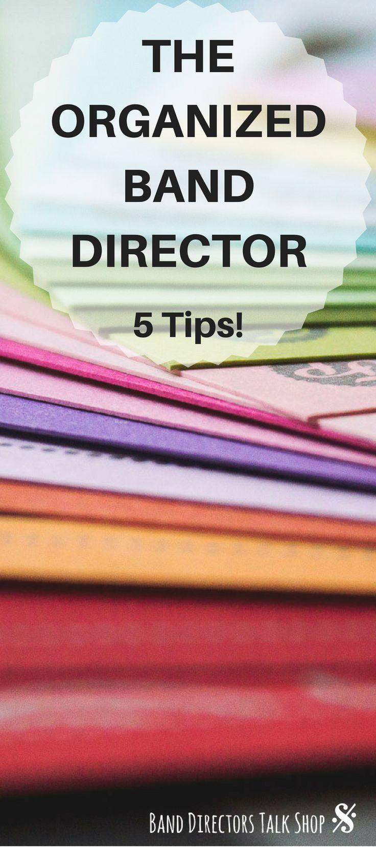 Band Director Organization tips and rehearsal ideas at Band Directors Talk Shop!