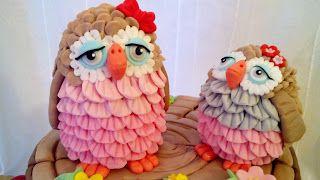 Rosa e Fantasia: Cake gufi Buon pomeriggio amiche ,e da tantissimo...