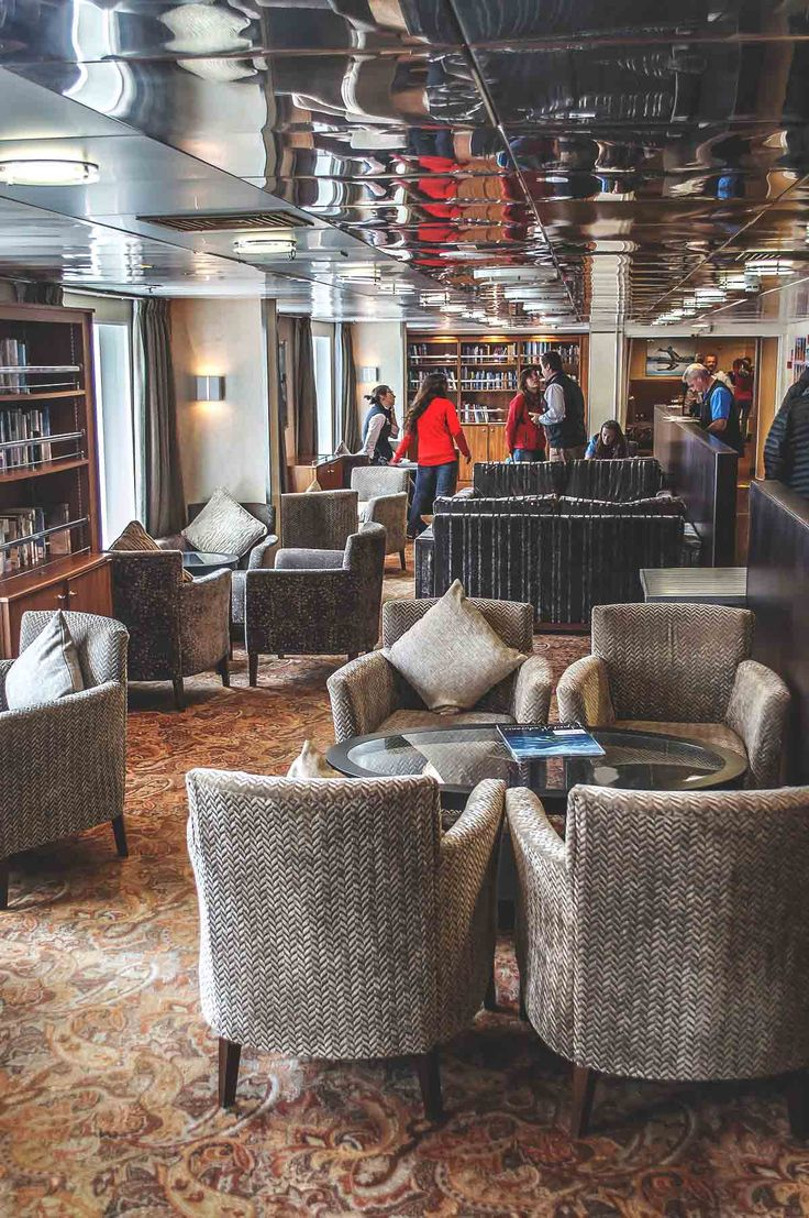 The Compas Club on the Ocean Endeavour, Quark Expeditions to Antarctica | heneedsfood.com