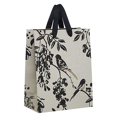 22 best gift bags images on pinterest gift bags tesco groceries buy john lewis bird gift bag black and silver small online at johnlewis negle Image collections