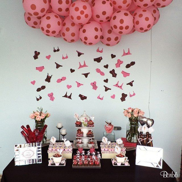 """Pink and Brown / Bridal/Wedding Shower """"Cha de Lingerie"""" 
