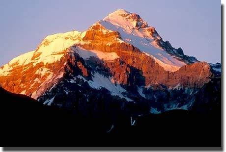 Cerro Aconcagua, Argentina-highest point in South America.