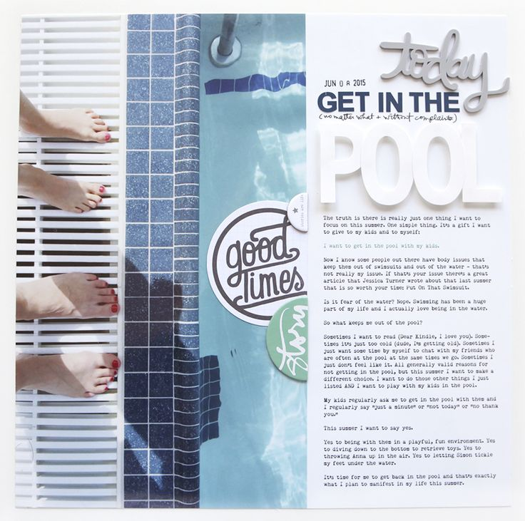 Get In The Pool layout | Scrapbook & Cards Today magazine