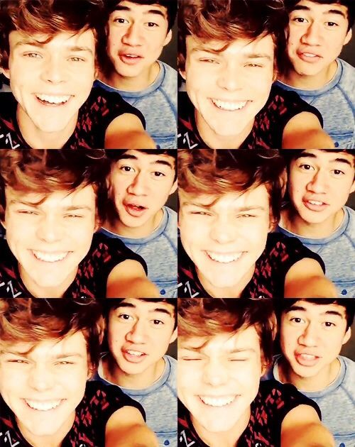 Cuties :)<<< OMG Aston Irwin crinkles his nose!! I REPEAT ASTON IRWIN CRINKLES HIS NOSE GUYS>>>> Oh god fangirl down!!!