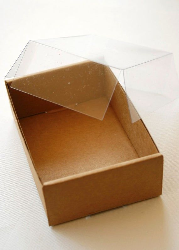 Heavy Kraft Cardboard Boxes Set Of 10 Clear Top 3 5 8 X 2 3 4 X 1 1 4 Small Cardboard Box Cardboard Kraft