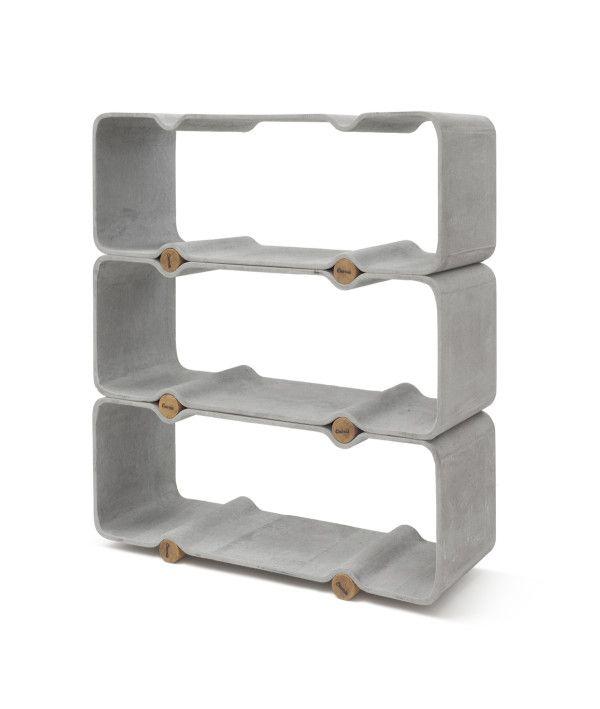 Basso Shelf System concrete grey | storage . Regal . étagère | Design: Thomas Feichtner |