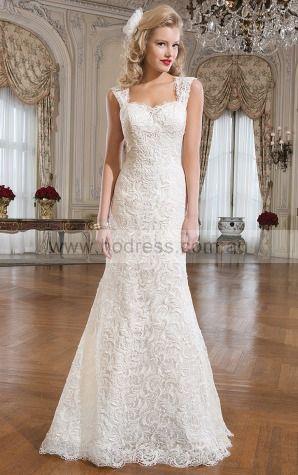 Sheath Sweetheart Empire Cap Sleeves Floor-length Wedding Dresses was0163--Hodress
