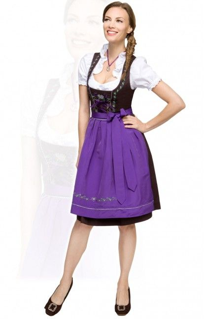 mid length dirndl outfit 3pcs. Angel violet 60cm