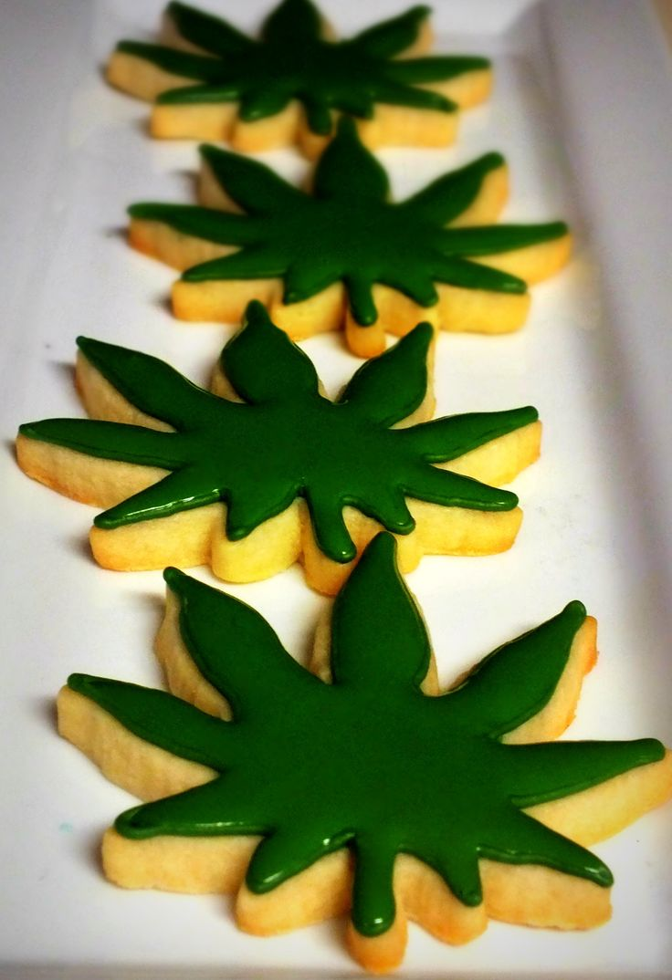 (Im not the OP of this lol)Cannabis inspired cookies.  I made these for a client who was having a cheech and chong party!!