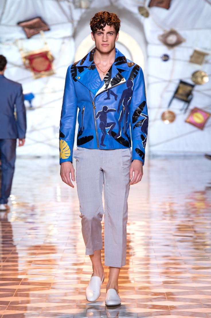Versace Men Fashion Show 2015 Look Versace Men s