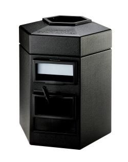 35 Gallon Single Sided Gas Station Outdoor Trash Can Auto