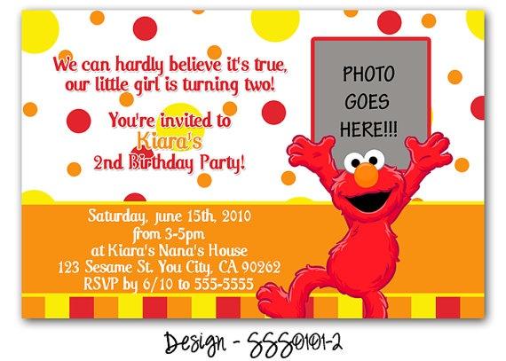 Elmo Invitation Wording Idea Rikki Turner