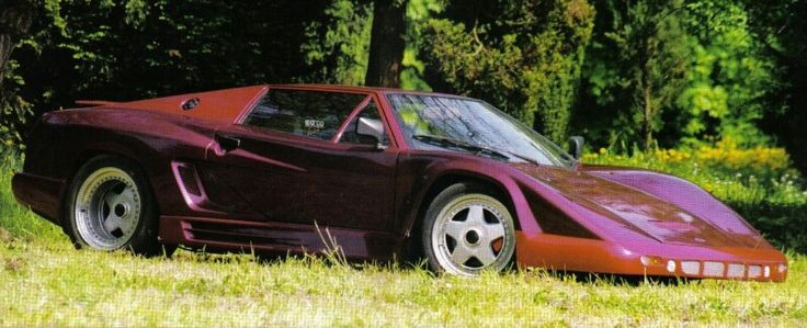 Tatra Grafit, homemade car, Tatra 613 engine, 4.5 litre DOHC V8, 325 km/h, built 1986, homologacion on road 1991, creater Ivan Labaška