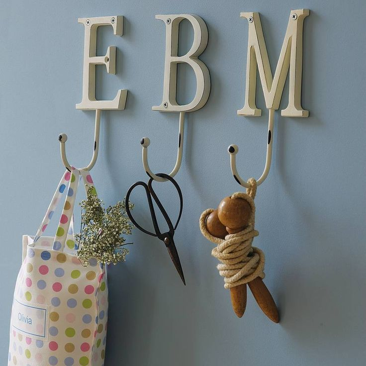 vintage style painted letter hook - $25.68 made from: hand painted metal - by the letteroom notonthehighstreet.com