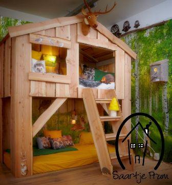Boomhutbed Mowgli? De leukste Kinderbedden voor de kinderkamer bij Saartje Prum.