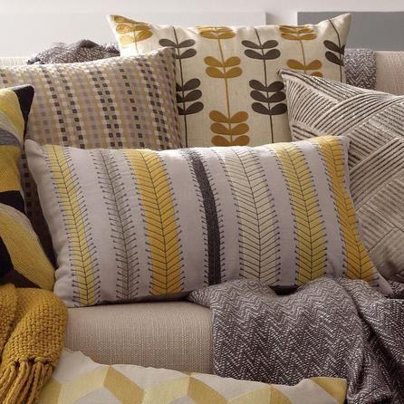 Retro Stripe Cushion   Dunelm