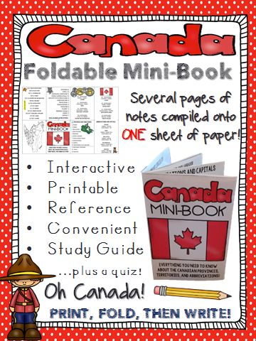 A fun study guide for students to review the Canadian provinces and territories. A great addition to an interactive social studies notebook!
